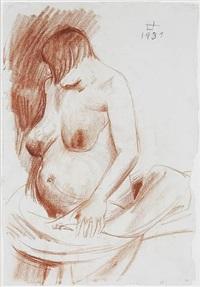 die schwangere (halbakt) by otto dix