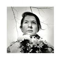 portrait with flowers by marina abramović