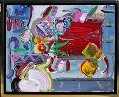 flower pot and window by peter max