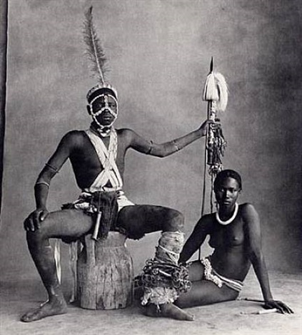 seated warrior, sitting girl, cameroon by irving penn