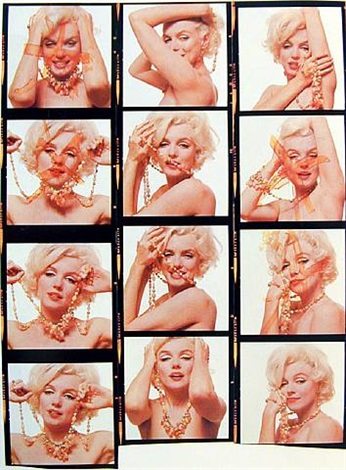 marilyn with beads (composite) by bert stern