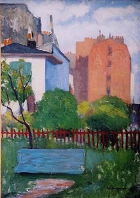 le banc, rue boursault by henri charles manguin
