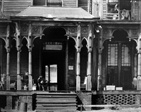boarding house porch, birmingham, alabama by walker evans