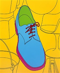 untitled (shoe) by michael craig-martin