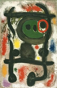 deux personages (two figures) (sold) by joan miró
