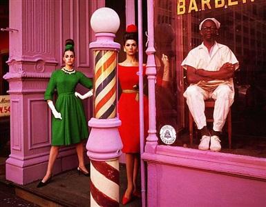 barbershop, simone + antonia, ny by william klein