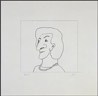 portrait of m by saul steinberg