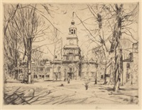 independence hall by childe hassam