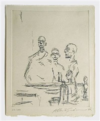 sculptures dans l'atelier by alberto giacometti