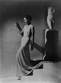 toto koopman, evening dress by augustabernard by george hoyningen-huene