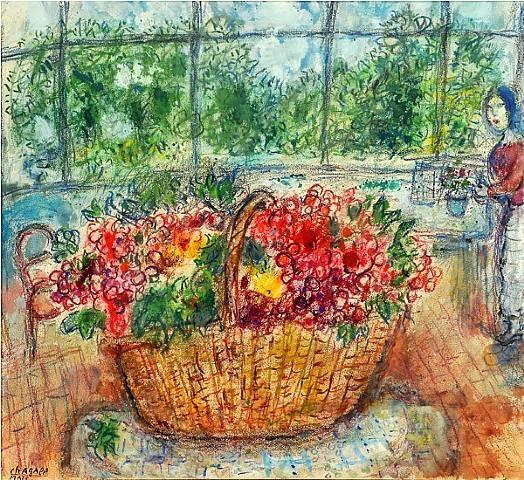 bouquet de fleurs chagall