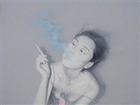 smoking by he sen