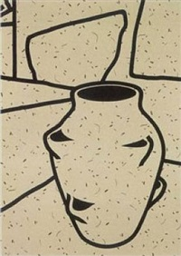 plant pot (portfolio of 3 screenprints) by patrick caulfield