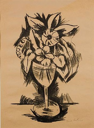 flowers in goblet #3 by marsden hartley