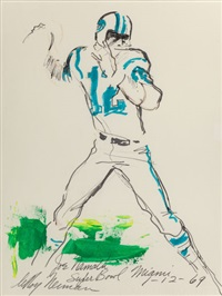 joe namath, super bowl miami by leroy neiman