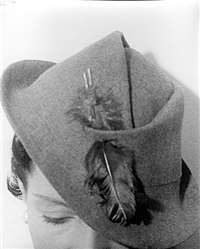 the honorable daisy fellowes, harper's bazaar (hat) by ilse bing