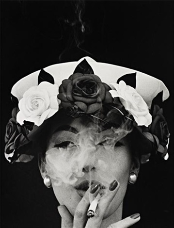 hat with five roses paris for vogue by william klein