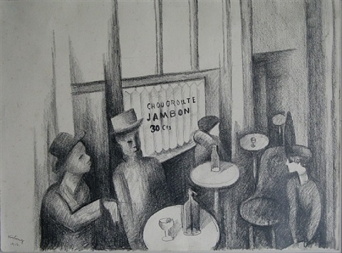 paris café by moïse kisling
