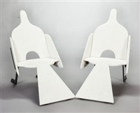 bird chairs (small model) (pair) by françois-xavier lalanne