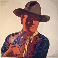cowboys and indians: john wayne by andy warhol