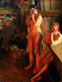fire light by anders zorn
