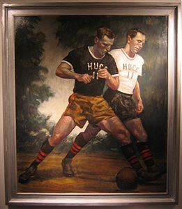 soccer players by bruce sargeant