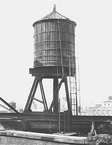 water tower, new york city: broadway / houston st. by bernd and hilla becher