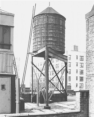 <!--44-->water tower, new york city: broadway / 100th st. by bernd and hilla becher