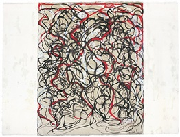 letter with red by brice marden