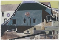 barn decorations (hex signs) by charles sheeler