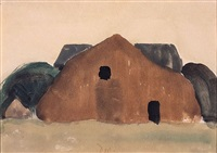 brown barn by arthur dove