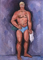 finnish-yankee wrestler by marsden hartley