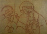gabrielle avec jean renoir et une petit fille by pierre-auguste renoir