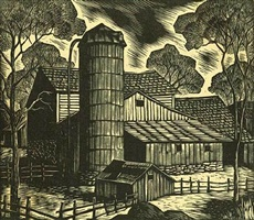 farm scene by gregory orloff