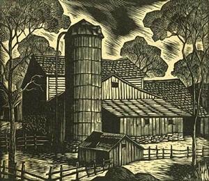 farm scene by gregory orloff