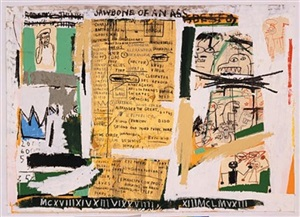 jawbone of an ass by jean-michel basquiat