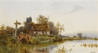 cottage along the river by walter stuart lloyd