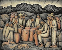 alfareros (pottery workers) (sold) by alfredo ramos martínez