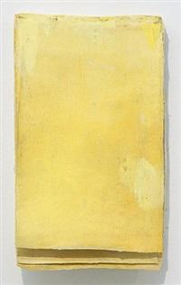 ohne titel (calendar yellow #1) / untitled (calendar yellow #1) by lawrence carroll