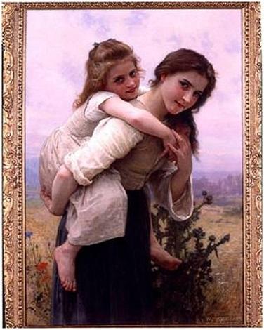 les deaux soeurs by william adolphe bouguereau