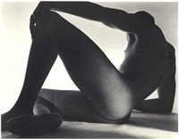 male nude (rear/side) 1952 by horst p. horst