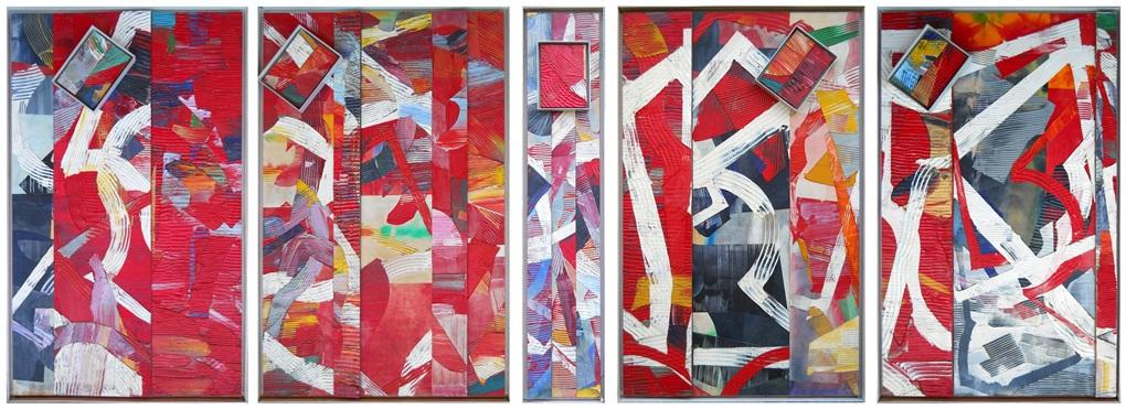 pan piper (5 panels) by sam gilliam