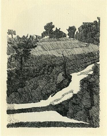 paesaggio di grizzana by giorgio morandi