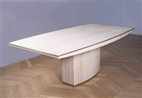 a large travertine centre table by willy rizzo