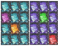 walls of gaza iii: stamp for lost country (2 panels) dyptich by laila shawa