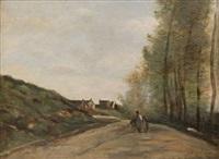 gouvieux près de chantilly, la route by jean-baptiste-camille corot