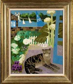 tabby at the wharf by mary fedden