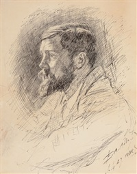 portrait of alfred parsons, r.a by edwin austin abbey