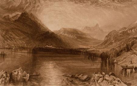 lake of zug tree ink and wash verso lake of zug engraving3 works by john ruskin