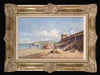 la grande plage de biarritz animée by eugène galien-laloue